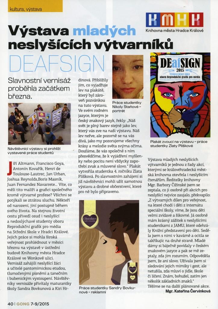 časopis Gong, 7-9/2015; DEAFSIGN