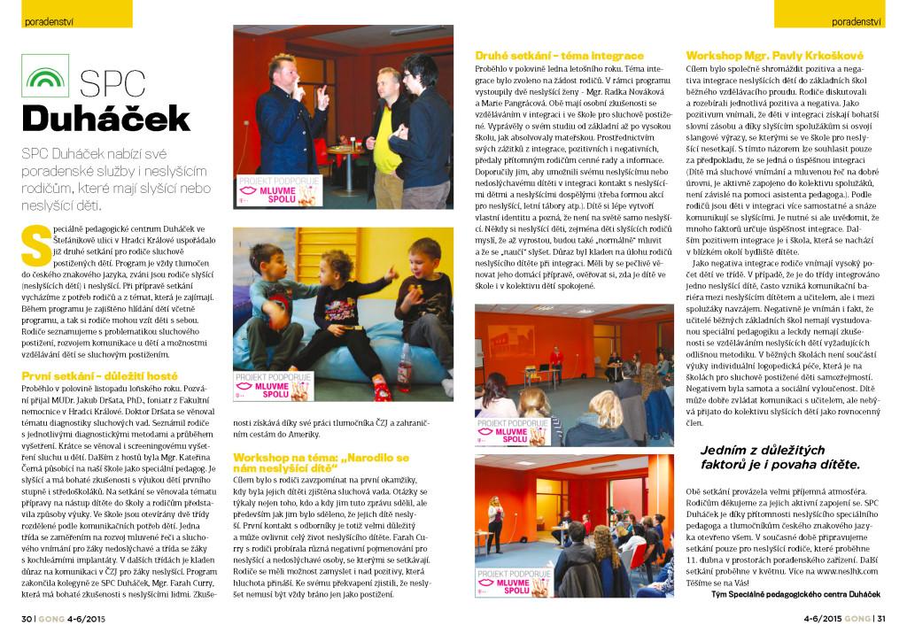 časopis Gong, 4-6/2015; SPC Duháček