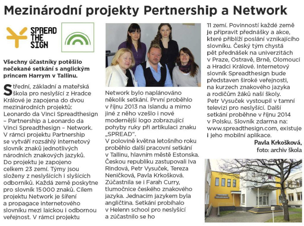 časopis Gong, 7-9/2014; projekty partnership
