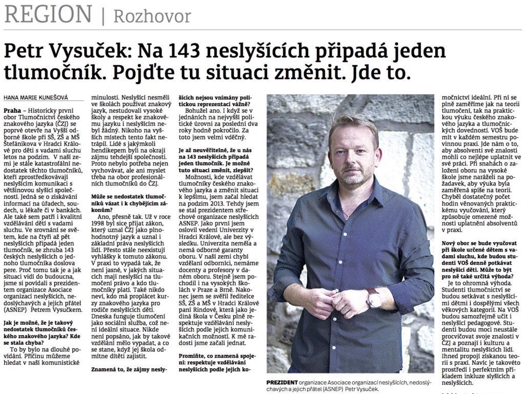 Petr Vysuček – rozhovor – Denik